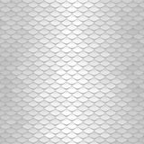 White texture. Abstract scale pattern. Roof tiles background. Stock Photo