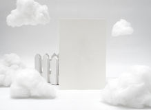 White texture blank name card. On wood stand Royalty Free Stock Image