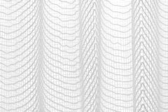 White texture netting. Delicate chain hanging folds white and gray Stock Image