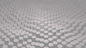 White texture pattern consisting of hexagons stock footage