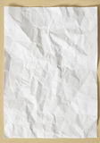 White texture sheet of paper crumpled Royalty Free Stock Photo