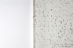White texture of the wall is half-paper, half-brick Royalty Free Stock Photography