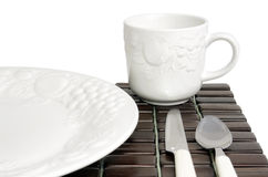 White textured china Royalty Free Stock Image