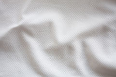 White textured football jersey Royalty Free Stock Photos