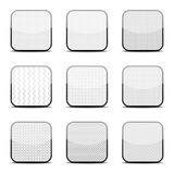 White textured icon templates Royalty Free Stock Images