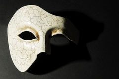 White textured mask Stock Photography