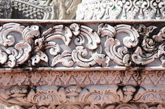 White thai art stucco wall Stock Images