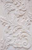 White thai art stucco wall, temple Stock Photo