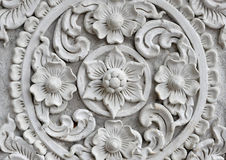 White thai art stucco wall,Thai temple Stock Photo