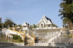 White Thai Buddhist Temple Royalty Free Stock Photography