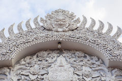 The White Thai ornament entrance in Temple, Thailand Royalty Free Stock Images