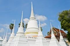 White Thai pagoda Royalty Free Stock Photography