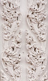 White thai style pattern. On wall in Buddhist temple Stock Photos