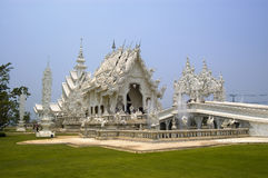 White Thai Temple. Modern artistic white buddhist temple near Chiang Rai, Thailand Stock Photo