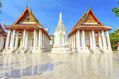 White Thai temple, Bangkok, Thailand Royalty Free Stock Photography