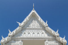 White Thai Temple. New Thai temple in white, and very Thai style Stock Photography