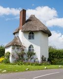 White, Thatched Cottage Royalty Free Stock Photo