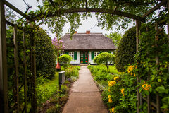 White thatched house Stock Photos