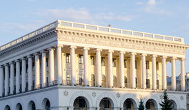 White theater with columns styled like White House. In USA Stock Photography