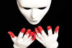White theatrical mask Stock Image