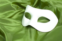 White theatrical mask Stock Images