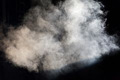 White theatrical smoke on stage during a performance or show.  Stock Images