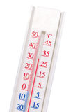 White thermometer. Isolated on white Royalty Free Stock Photography
