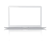 White thin laptop Royalty Free Stock Photography