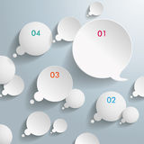 White Thought And Speech Bubbles With Numbers Royalty Free Stock Images
