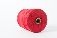 White thread  on white background. Rope, wool, knitting homemade handmade object. White thread  on white background. Rope, wool, knitting homemade handmade Stock Photo