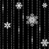 White threads with some snowflakes seamless Stock Image