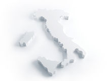 White threedimensional Italy Royalty Free Stock Images