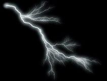 White thunder on black. Background Royalty Free Stock Photography