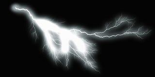 White thunder on black background.  Stock Image