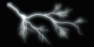 White thunder on black background. Large illustration Stock Photo