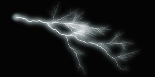 White thunder on black background Royalty Free Stock Photo