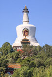 White Tibetan Stupa at Beihai Park, Beijing, China Royalty Free Stock Image