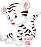 White tiger. A cute character of sitting white tiger Stock Photo