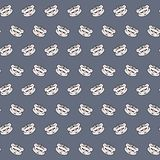 White tiger - emoji pattern 43. Pattern of a emoji white tiger that can be used as a background, texture, prints or something else stock illustration