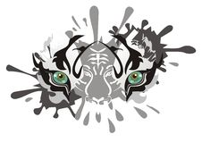 White tiger eyes splashes Royalty Free Stock Photography