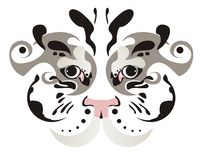 White tiger eyes Stock Photos
