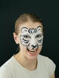 White tiger face painting Royalty Free Stock Photo