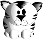 nice White tiger cartoon isolated Royalty Free Stock Photo