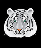 White tiger portrait illustration Stock Photo