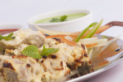 White tikka Royalty Free Stock Image