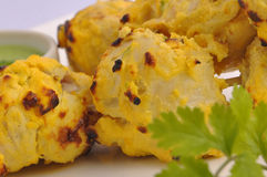 White tikka boles Royalty Free Stock Image