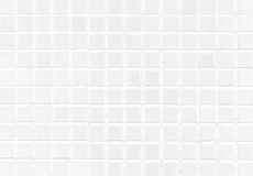 White Tile Modern Wall Background In Toilet. Gay Glass Mosaic Texture With Light In Top. Table Pattern For Scene And Backdrop Royalty Free Stock Photo