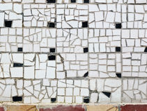 White tile mosaic Stock Photography