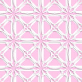 White tile ornament with light pink layering Stock Images