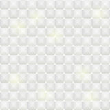 White Tile Seamless Pattern with Square Elements Stock Image